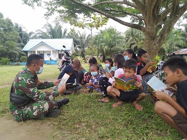 Satgas TMMD Laksanakan Penyuluhan Pendidikan di Desa Mabar