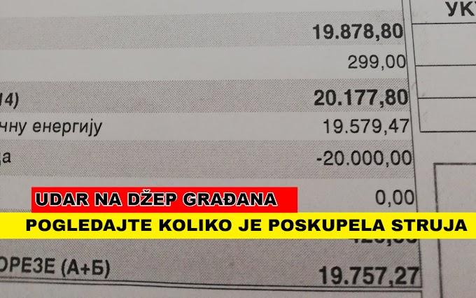 Usluge dobavljača EPS bile 240 din, a sada su preko 1000 dinara, računi uvećani za po nekoliko hiljada dinara