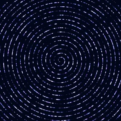 An animation of glistening Archimedes' spiral.