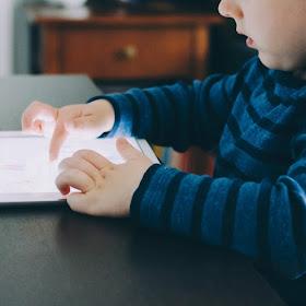 Boy in iPad
