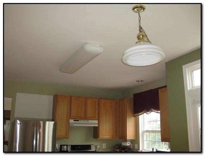 Replace Fluorescent Light Fixture In Kitchen Design Home
