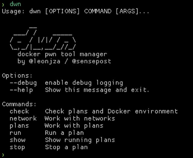 Dwn - D(Ockerp)Wn - A Docker Pwn Tool Manager