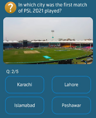 In which city was the first match of PSL 2021 played?