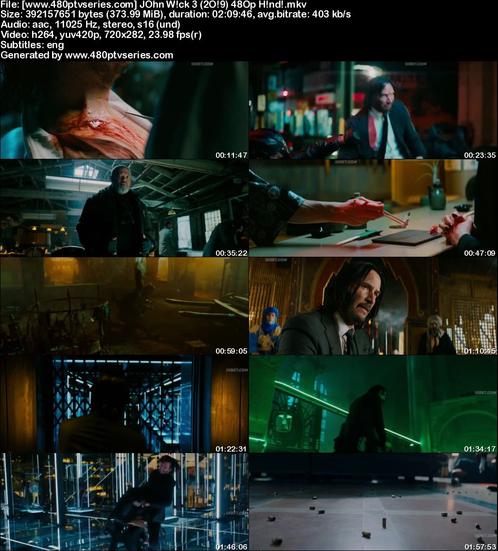 John Wick: Chapter 3 - Parabellum (2019) 350MB Full Hindi Dubbed Movie Download 480p Bluray Free Watch Online Full Movie Download Worldfree4u 9xmovies