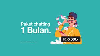 paket chatting sebulan 3