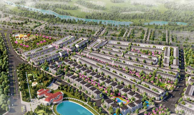 phối cảnh tổng thể dự án Eco City Premia