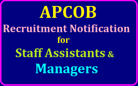 APCOB Staff Assistants Managers Recruitment 2019, Apply Online till 28th July @ apcob.org /2019/07/APCOB-Staff-Assistants-Managers-Recruitment-2019-Apply-Online-apcob.org.html