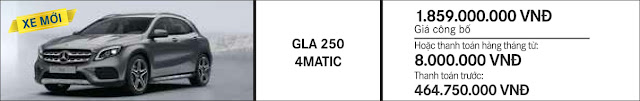Giá xe Mercedes GLA 250 4MATIC 2017 tại Mercedes Trường Chinh