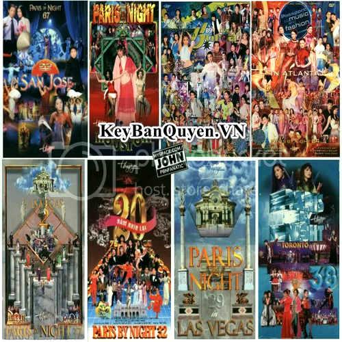 Tổng hợp trọn bộ DVD Paris By Night định dạng MKV và M2TS.