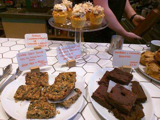 Brownies and slices at Sister Sadie in Dublin