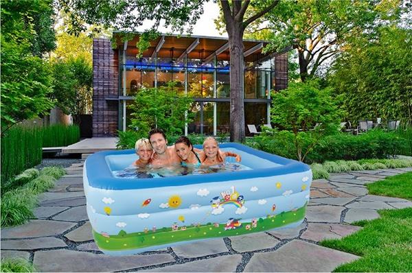 Bể bơi phao 3 tầng  giá rẻ