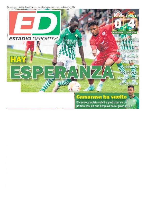 """Betis, Estadio Deportivo: """"Hay esperanza"""""""