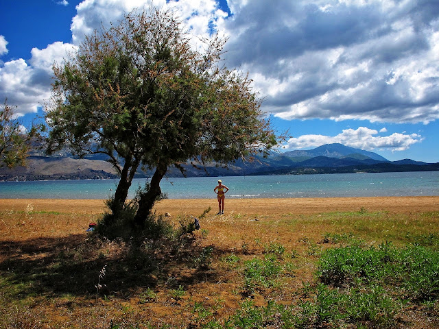 beach at lixouri, kefalonia greece photo by sue wellington