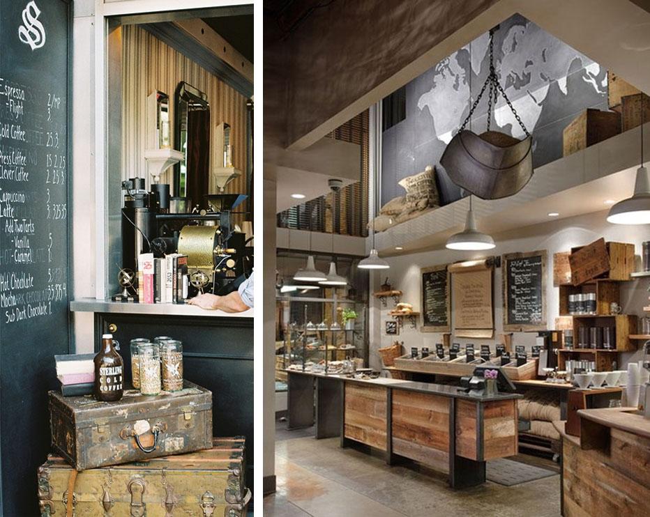 industrial style coffee shops joy studio design gallery best design. Black Bedroom Furniture Sets. Home Design Ideas