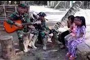 Mengintip Satgas TMMD Ke-111 Selayar Bersenandung Hibur Anak Kampung Tola