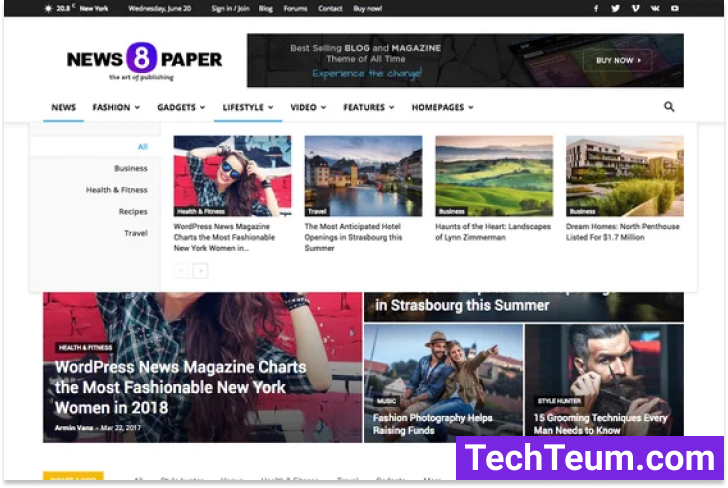 Newspaper by tagDiv (Themeforest)