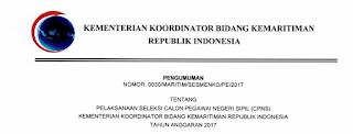 Penerimaan CPNS Terbaru Kementerian Koordinator Bidang Kemaritiman