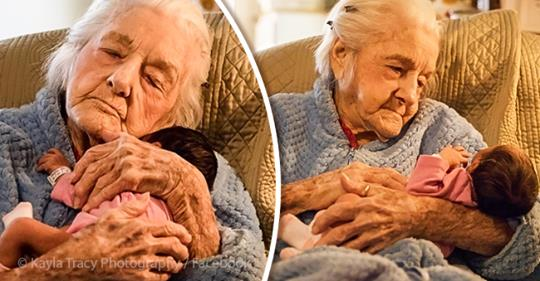92-year-old Woman Defies Doctors' Prognosis And Meets First-great-granddaughter