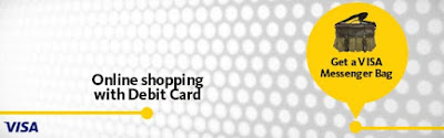 Maybank VISA Debit Card Online Shopping Free Messenger Bag