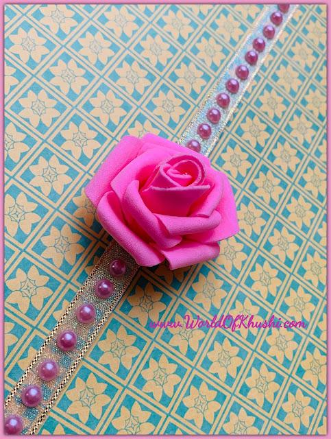 FlowerRakhiDIY_WorldOfKhushi