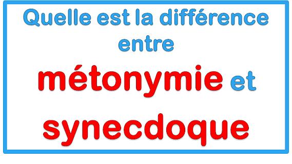 Quelle est la différence entre métonymie et synecdoque