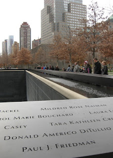 Name of Paul J. Friedman etched at the North Tower Memorial, World Trade Center, New York, New York