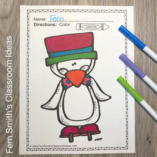 Penguins Coloring Pages - 23 Pages of Penguin Coloring Book Fun By #FernSmithsClassroomIdeas