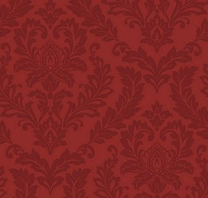 Tone on Tone Red Damask Wallpaper moulin rouge bedroom wall decorations