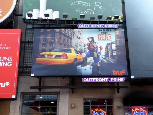 Jon Glaser Loves Gear TV billboard NYC