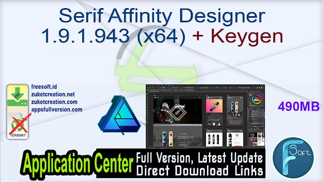 Serif Affinity Designer 1.9.1.943 (x64) + Keygen