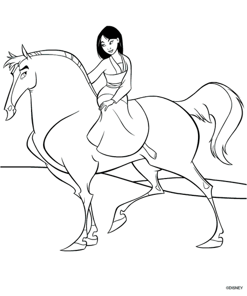 disney coloring pages mulan - photo #29