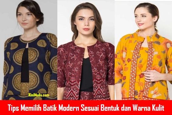 Tips Memilih Batik Modern Sesuai Bentuk dan Warna Kulit