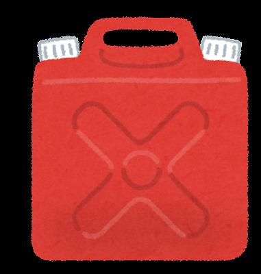 赤い灯油タンクのイラスト