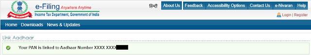 Pan Aadhar Link Online.Pan Aadhar Link Status