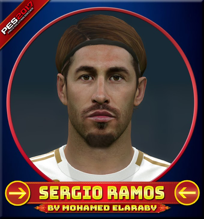 Sergio Ramos Face Real Madrid Player - PES 2017