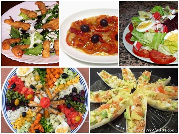 Recetas de ensaladas variadas