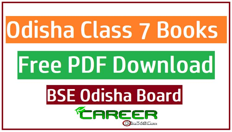 Odisha Class 7 (VII) All Books BSE Board Free PDF eBook