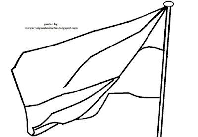 Mewarnai Gambar Mewarnai Gambar Sketsa Bendera Merah Putih 4