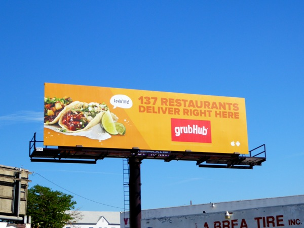 GrubHub billboard