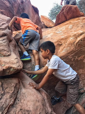 kiddos climbing