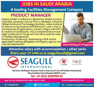 Product Manager for FMC in Saudi Arabia