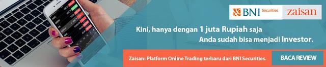 Cara Baru Trading Saham Online Dengan Aplikasi Zaisan dari BNI Securities