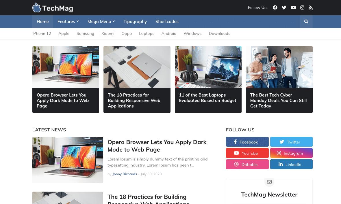 TechMag v1.0 - Professional Responsive Blogger Template