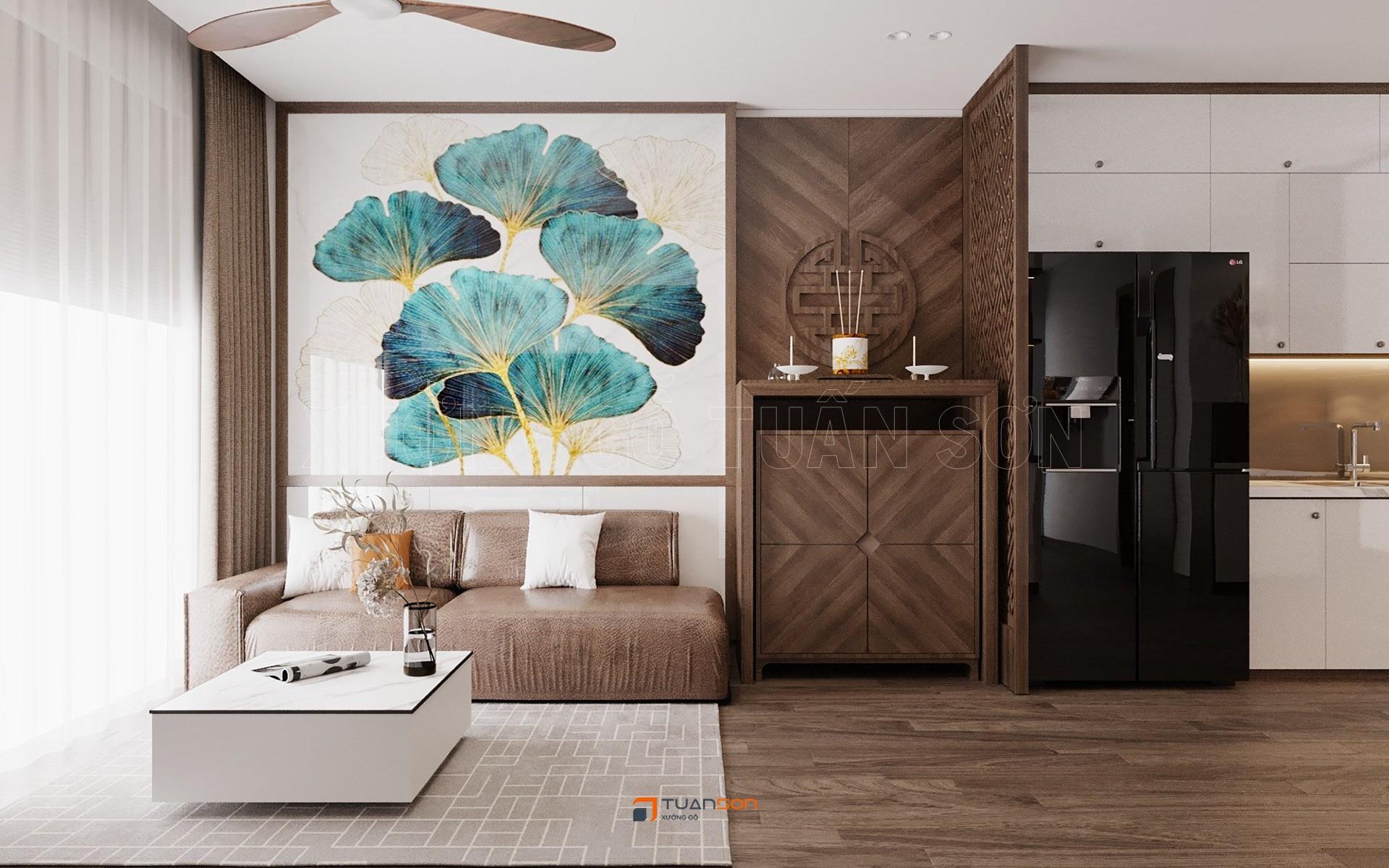 Thiết kế nội thất căn hộ 2PN+2WC (62m2) S1.01 Vinhomes Ocean Park Gia Lâm