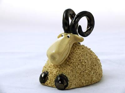 Baranek ceramiczny na Wielkanoc