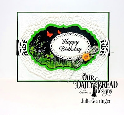 Our Daily Bread Designs Stamp Set: Vintage Bird Labels, Our Daily Bread Designs Custom Dies: Vintage Flourish Pattern, Vintage Label, Vintage Borders, Ornate Ovals, Ovals