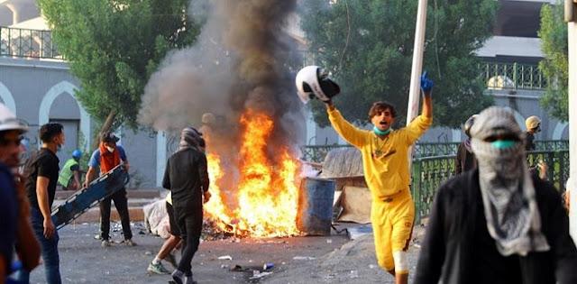 Gelombang Protes Di Irak Renggut 319 Nyawa