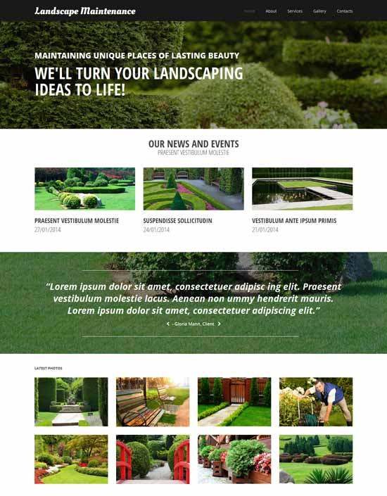 20 Awesome Exterior Design Landscaping Website Templates