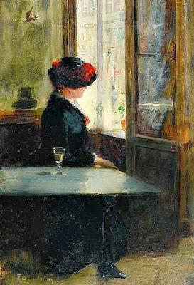 Resultado de imagem para pintura sozinho no café