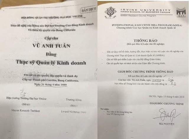 Phó Tổng giám đốc của Bảo hiểm Bảo Minh Vũ Anh Tuấn bị 'tố' dùng bằng thạc sỹ dởm